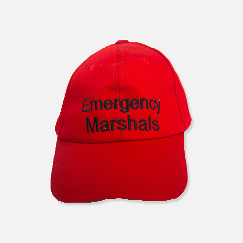 Emergency Marshal Red Cap WEB