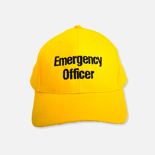 Emergency Officer Yellow Cap WEB